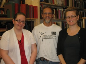Our staff, shown left to right:  Jennifer, Sparky, and Katrina