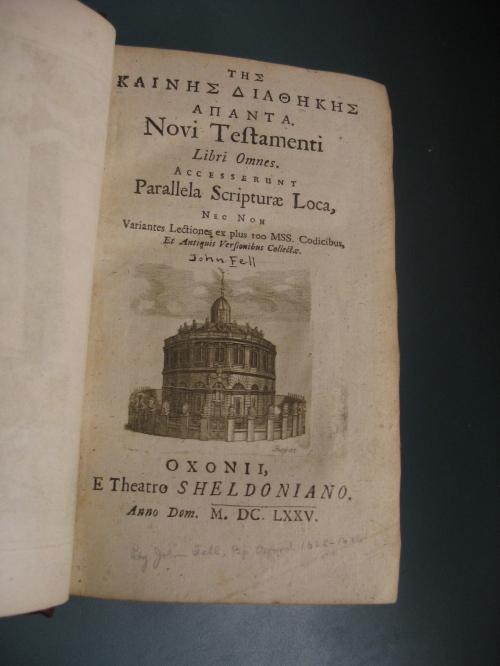 Fell, 1675 Greek New Testament